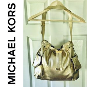 Gold Leather Michael Kors Purse